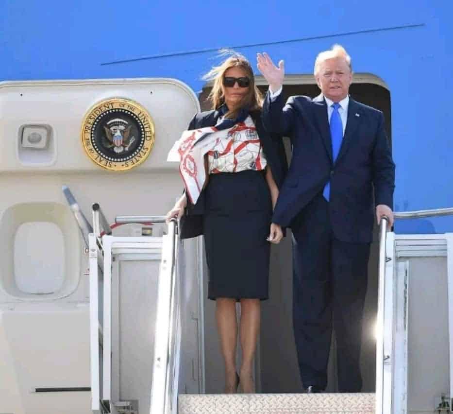 Trump arrives London