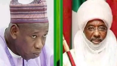 Photo of What happened when Emir of Kano and Governor Ganduje met at Eid praying ground (VIDEO)