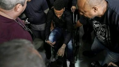 Photo of Neymar arrives police station on wheelchair to answer on rape allegation (Photos)