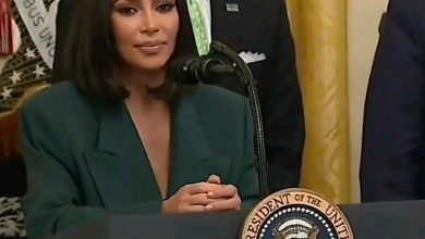Photo of Kim Kardashian speaks at White House event on criminal justice