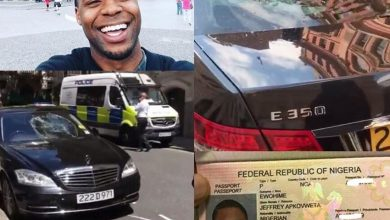 Photo of Nigerian man who destroyed seven cars at embassy in London arrested