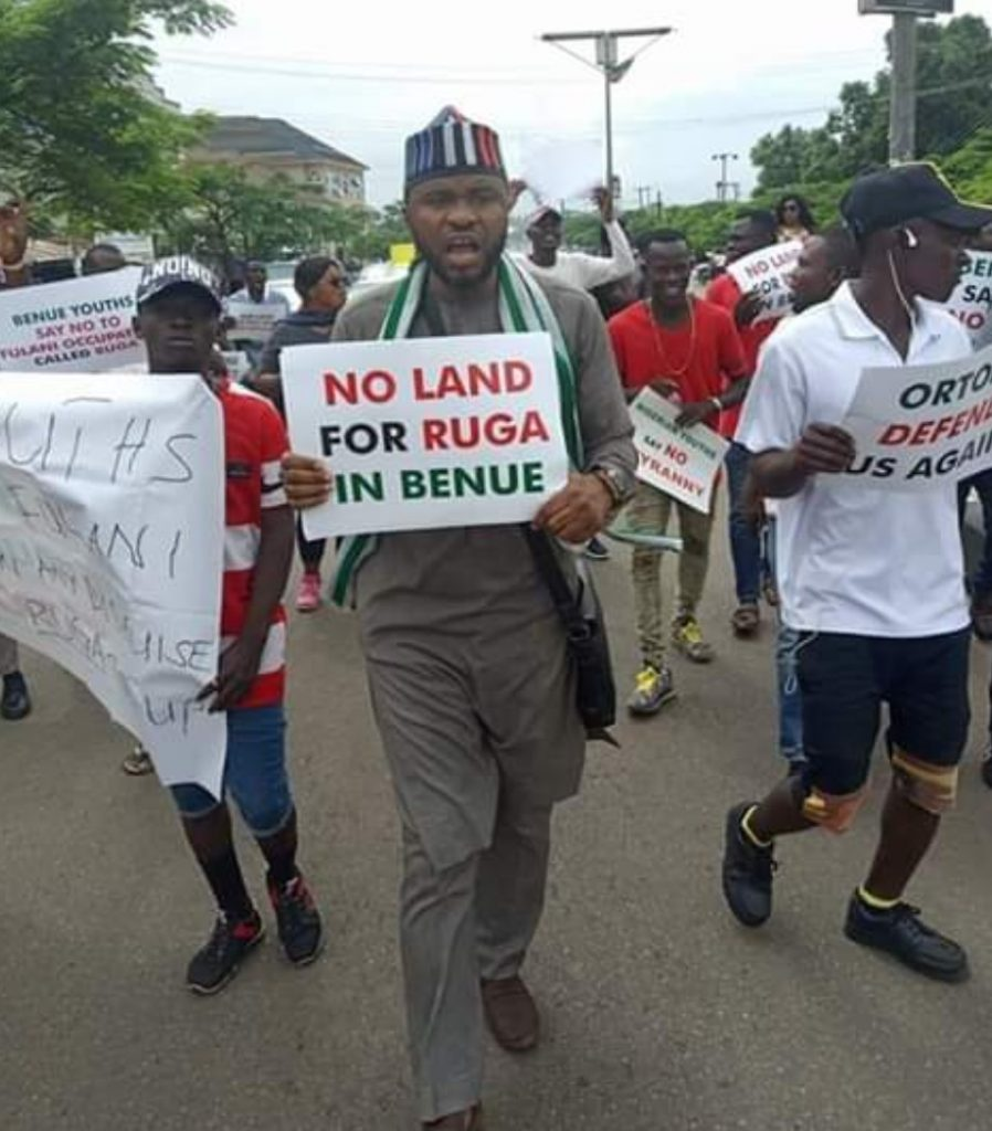 Benue State protest against ruga settlement