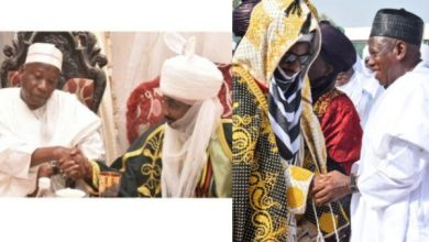 Governor Ganduje and Emir Sanusi reconcile, thanks to Dangote