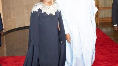 Photo of Aisha Buhari's N1.5million cape dress to Democracy Day gala night breaks the Internet