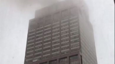 Photo of One dead, as helicopter crashes on 54-story skyscraper in New York (Photos)