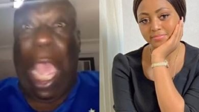 Photo of Veteran actor, Charles Awurum warns newly married Regina Daniels never to touch another man (Video)