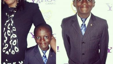 Photo of Kemi Olunloyo shares picture with son, calls him original yahoo boy