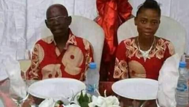 Photo of These wedding photos of a teenage girl and 'granpa' has got everyone talking…