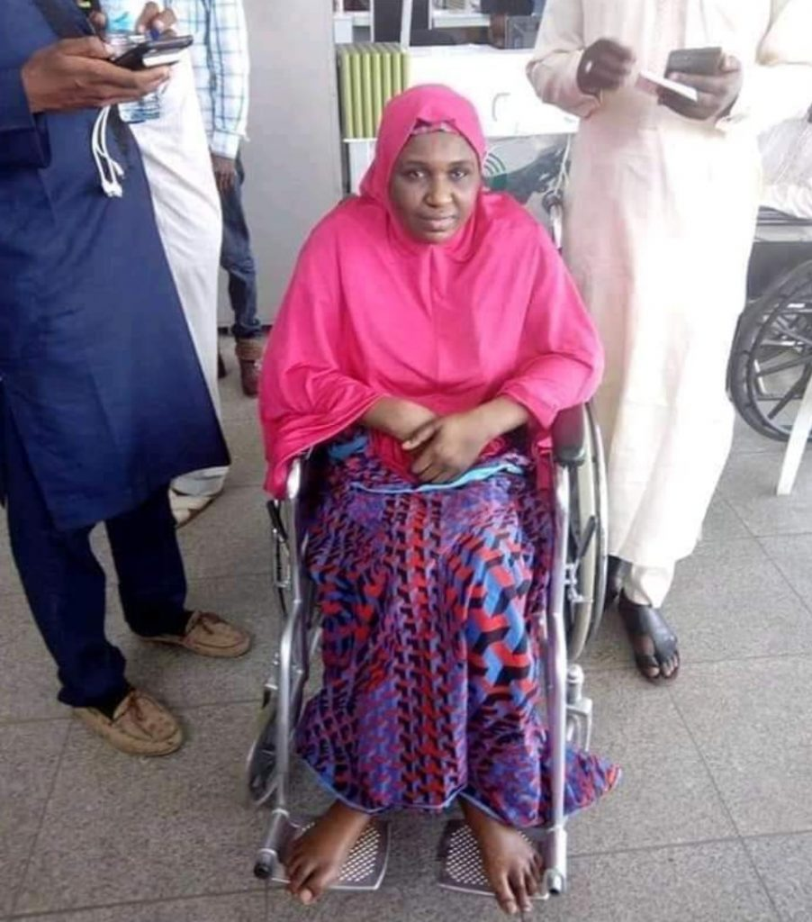 Wheelchair lady Dangote