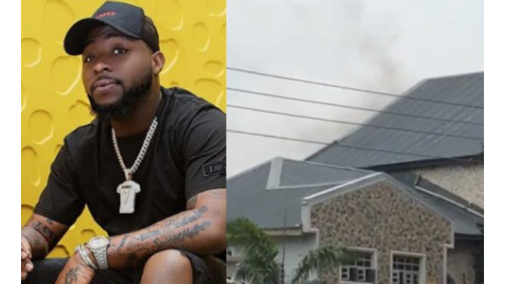 Davido's father's house razed by fire today (Photos)