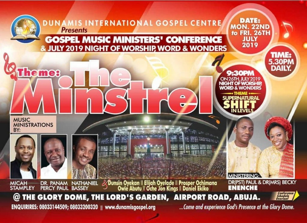 The Minstrel 2019: Micah Stampley, Panam Percy Paul, Nathaniel Bassey