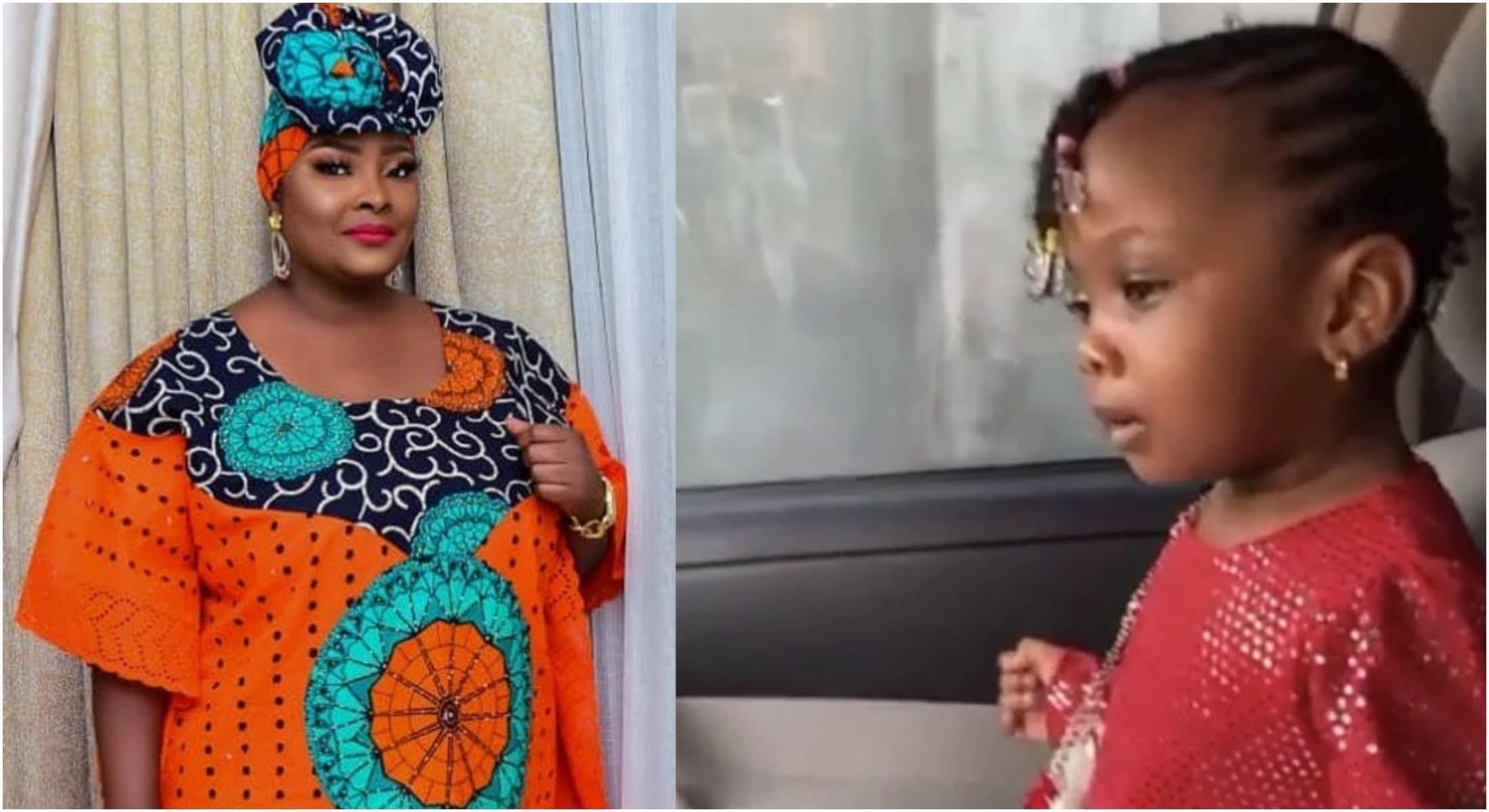 Ronke Odusanya unveils her baby girl