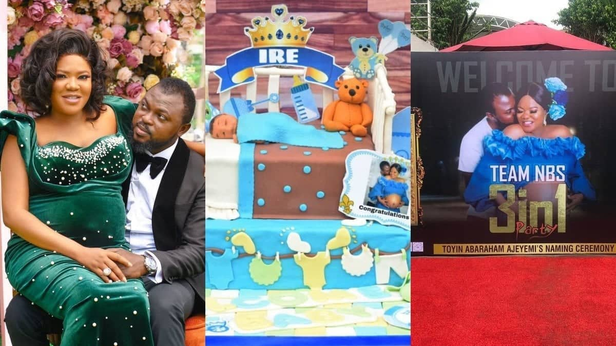 Scenes from Toyin Abraham's baby's naming ceremony ( photos & video)
