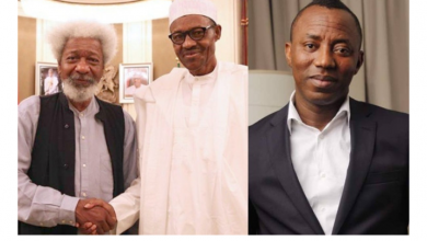 Photo of Omoyele Sowore's arrest: Wole Soyinka reacts, says Buhari is the new Abacha