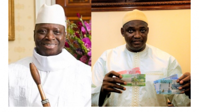 Photo of Gambia Government removes Yahya Jammeh's image from bank notes