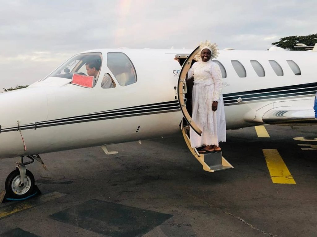 Reverend Mother Esther Abimbola Ajayi joins private jet league of pastors (Photos)