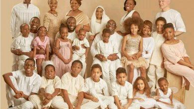 Photo of Family portraits of late Kudirat Abiola's children and grandchildren