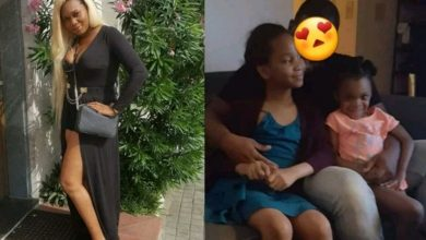 Photo of Ubi Franklin's estranged baby mama, Sandra Iheuwa shares photo of ex-husband with their children