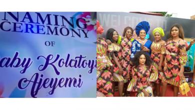 Photo of Photos of Toyin Abraham's fans celebrating her baby boy in Lagos