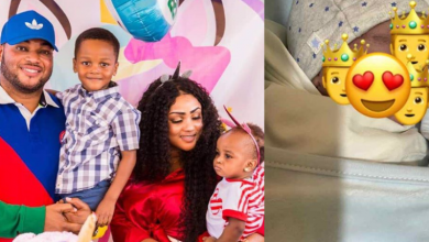 Photo of Juliet Ibrahim's ex-husband welcomes third child with wife
