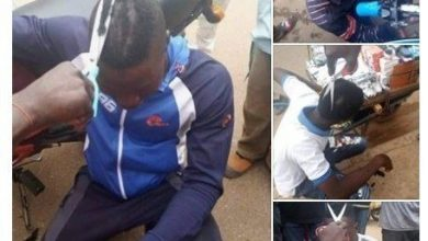 Photo of Niger State Taskforce Shaves Men's Hair With Scissors By Force (Photos)