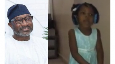 Photo of Otedola offers scholarship to little girl for singing DJ Cuppy's song Gelato
