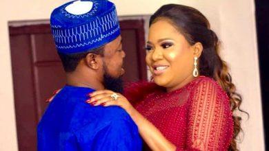Photo of Toyin Abraham's husband, Kolawale Ajeyemi  goes on romantic to celebrate her
