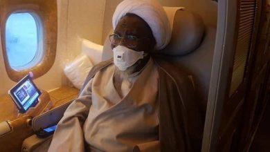 Photo of Shi'ites leader, El-Zakzaky, wife leave Nigeria for India (photos)