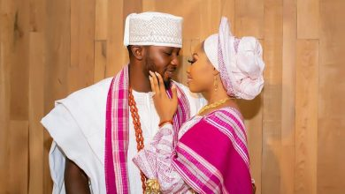 Photo of Bukky and Seyi's pink themed engagement ceremony #LoveFromtheHill19