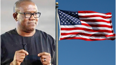 Photo of Peter Obi reacts to his American visa denial