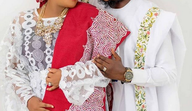 Photo of First official portrait from Toyin Abraham and Kolawole Ajeyemi's wedding and how they deceived the public