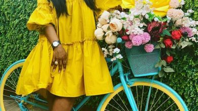 Photo of Celebrities take turns in snapping with the most popular bicycle in Lagos state (photos)