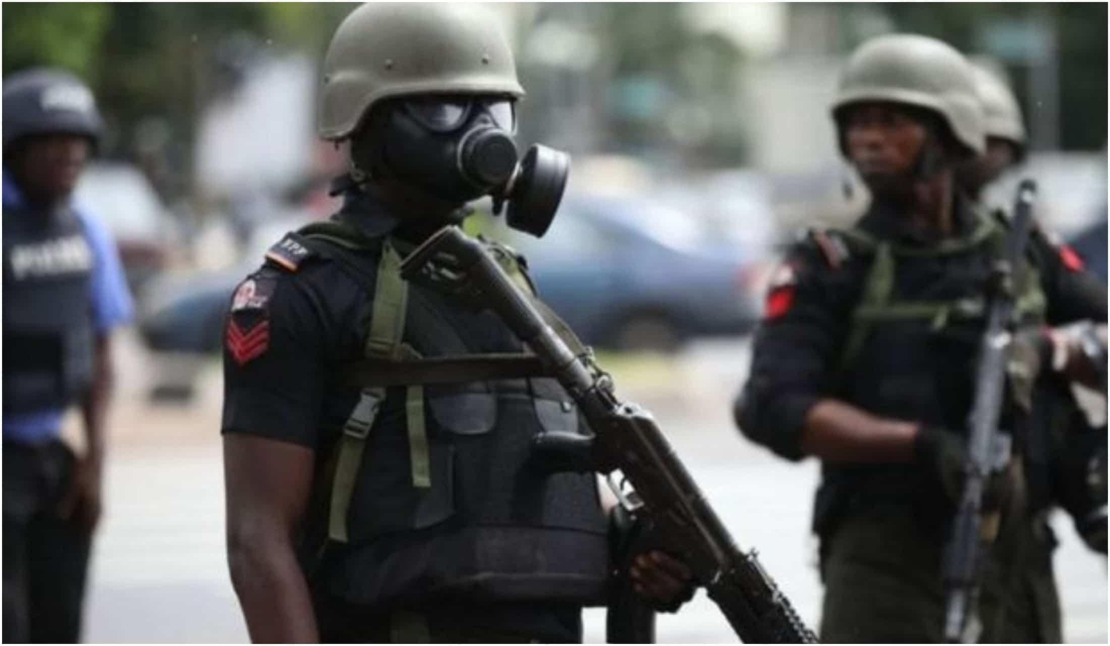 Police parade Shoprite looters