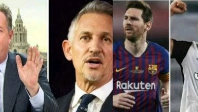 Photo of Piers Morgan and Gary Lineker attack each other over Messi and Ronaldo debate