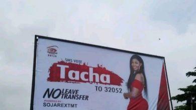Photo of BBNaija: Thugs destroy Tacha's billboard in Owerri
