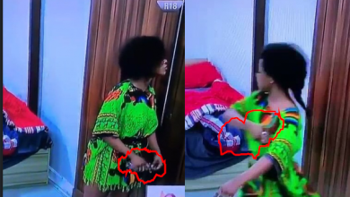 Photo of BBNaija: Moment Tacha began spraying perfume on herself after being told she has body odour