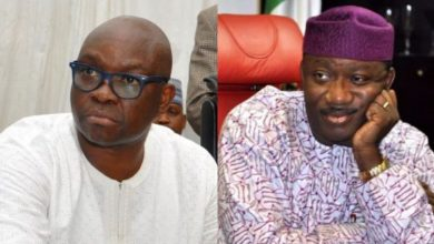 Photo of You were voted to do what I couldn't, stop complaining – Fayose tells Fayemi