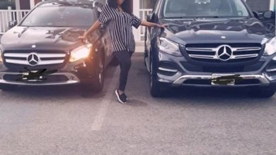 Photo of Ubi Franklin's 4th baby mama, Sandra buys another Mercedes Benz