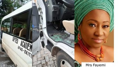 Photo of FUOYE Protest: How Governor Fayemi's Wife Was Attacked – Ekiti Government Confirms