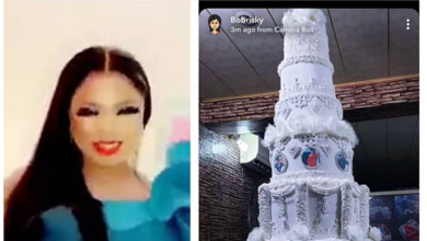 Photo of Photo of Bobrisky's super birthday cake melts hearts