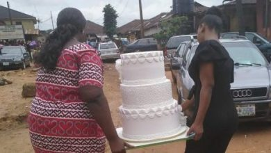 Photo of Drama in Benin as jilted ex-lover storms church wedding, Bride collapses (Photos)