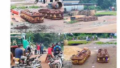 Photo of Land dispute: Family digs out two corpses, 3 weeks after burial