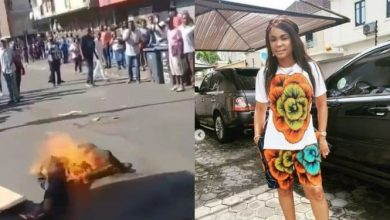 Photo of #Xenophobia: Iyabo Ojo reacts to video of South Africans burning a Nigerian alive