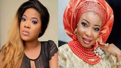 Photo of Toyin Abraham finally speaks on bullying her colleagues…instructs her fans!