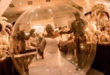 Photo of Nigerian Bride arrives wedding reception in giant balloon (Photos)
