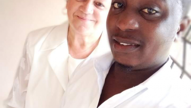 Photo of Romantic moment 24-yr-old boy ties the knot with American grandma in Delta State