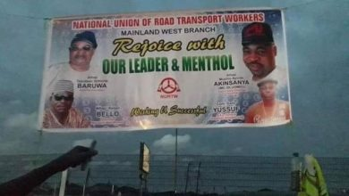 Photo of See the NURTW banner that has got Twitter users reeling with laughter (photo)