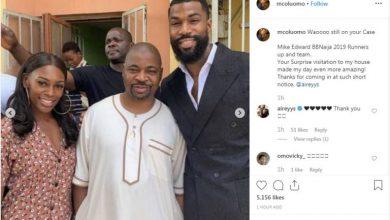 Photo of Big Brother Naija's Mike visits MC Oluomo (photos)