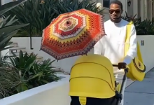 Photo of D'banj steps out with new born son (photos, video)