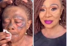 Photo of Old Woman's makeup transformation breaks the Internet